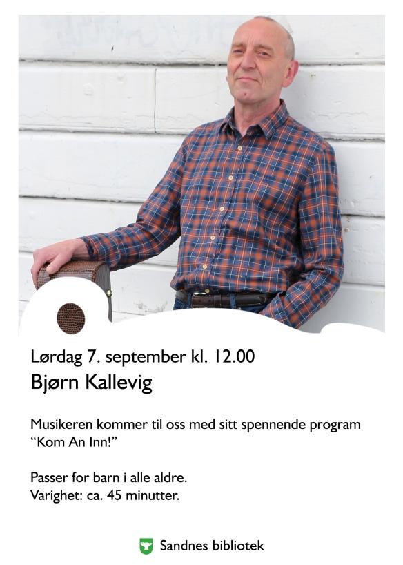 Bjoern Kallevig pa Sandnes Bibliotek 1